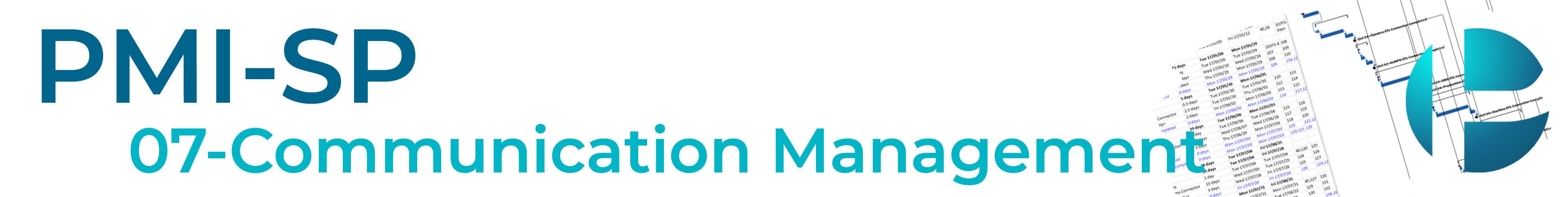 PMI-SP Module 7 (Communication Management) Banner